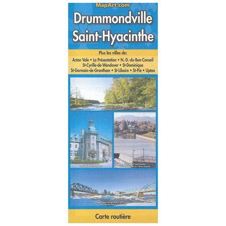 DRUMMONDVILLE - ST-HYACINTHE - CARTE ROUTIERE