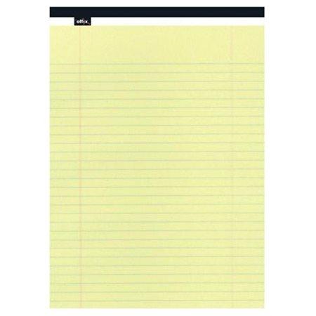 Bloc de papier Offix® Légal  (8-1 / 2 x 14  po) ligné 11 / 32, jaune