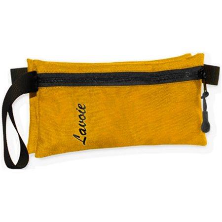 Étui à crayon Lavoie double, jaune