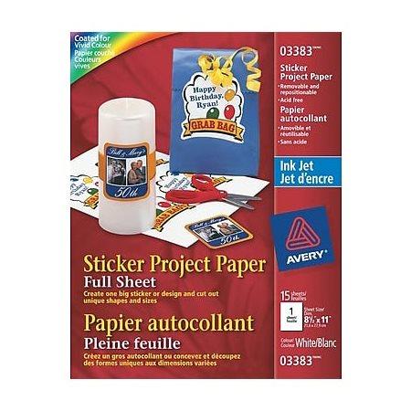 Papier projet autocollant
