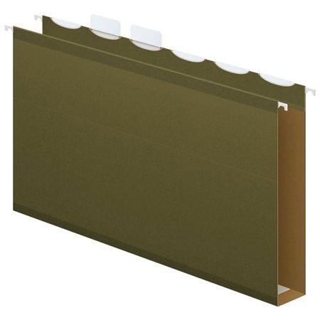 """Dossiers suspendus """"ReadyTab"""" Fond carré de 2"""", vert standard. Boîte de 20. légal"""