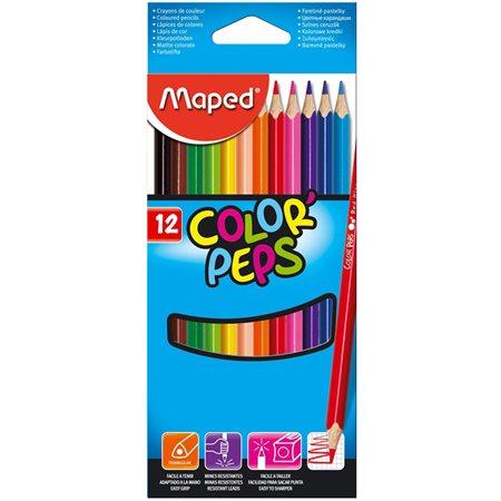 Ensemble de 12 crayons à colorier classiques
