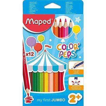 Ensemble de 12 crayons à colorier Maxi