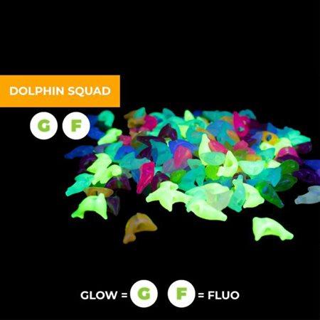 Perles dauphins phosphorescent & fluorescent 75pc
