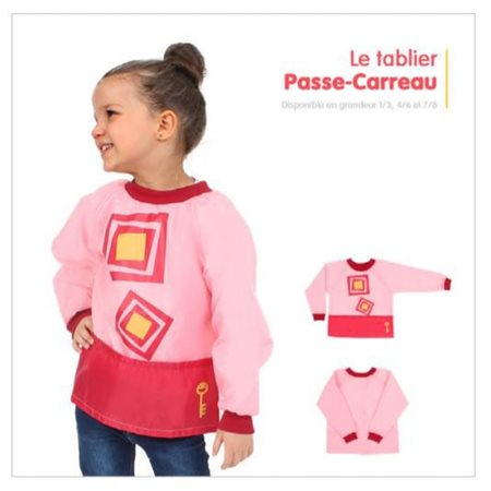Tablier PP: Rose, Passe-Carreau 7 / 8