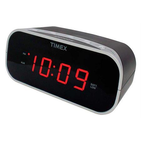 Réveil Timex noir avec affichage rouge