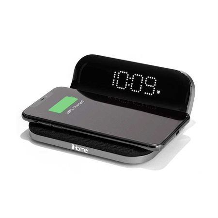 Réveil matin avec recharge sans fil Qi et USB