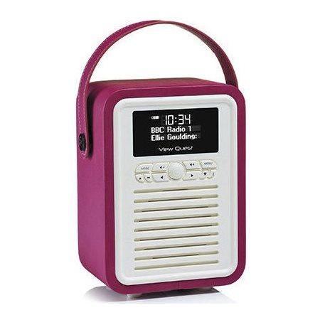 Radio retro mini bluetooth; Violet