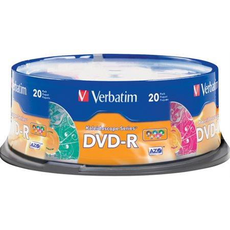 Disque DVD-R Verbatim Kaleidoscope @20