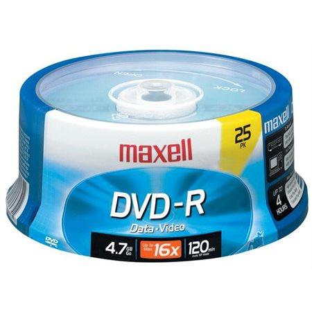 DVD-R Maxell 16X, 4,7 Go @25