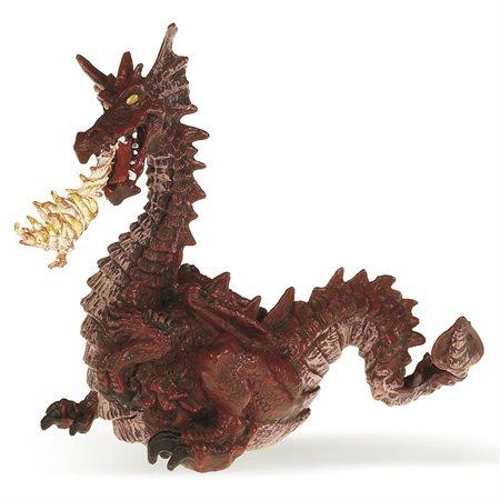 Papo - Dragon rouge avec flamme