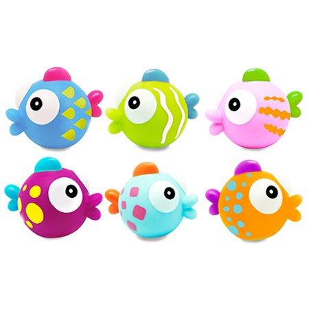 6 Aspgergeurs souples pour le bain - Poissons