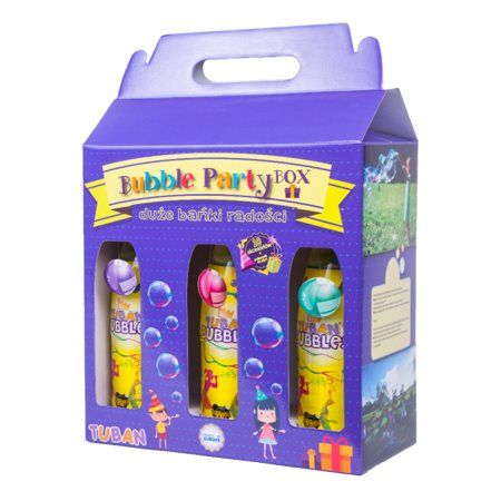 Boîte de bulles de fête