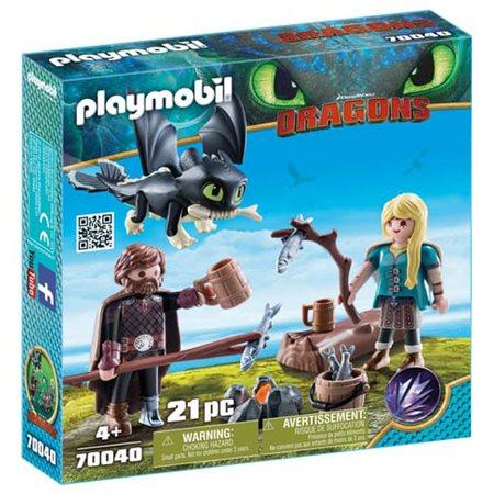 PLAYMOBIL Dragons - Harold et Astrid