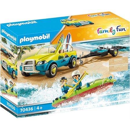 Playmobil Family Fun - Voiture avec canoë