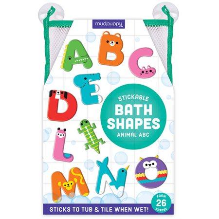 Formes en mousse adhésive ABC Animal pour bain