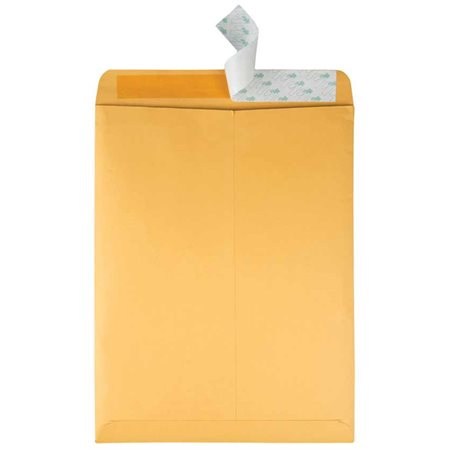 """Enveloppe """"Redi-Strip"""" Kraft brun #8  10 x 13"""""""