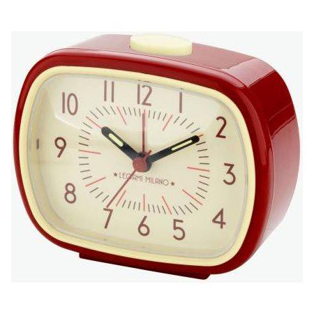 Réveil matin rétro rouge