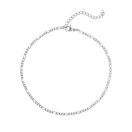 Bracelet de cheville Mini Figaro (argent)