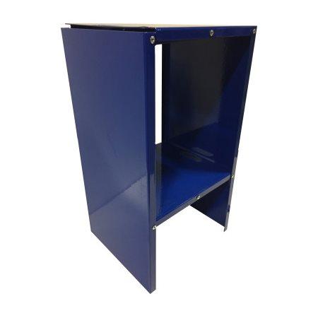 Tablette pliable bleu pour casier 12'' de large