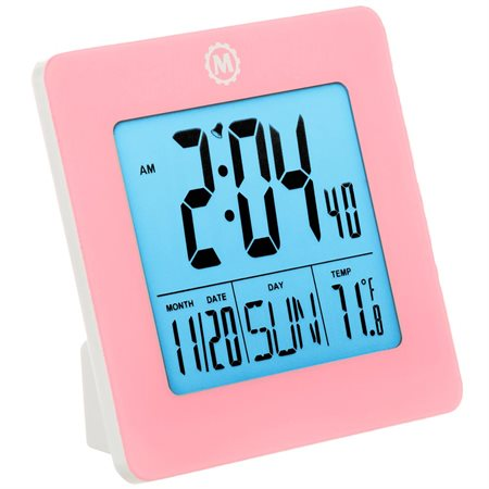 Horloge numérique de voyage ou de bureau rose
