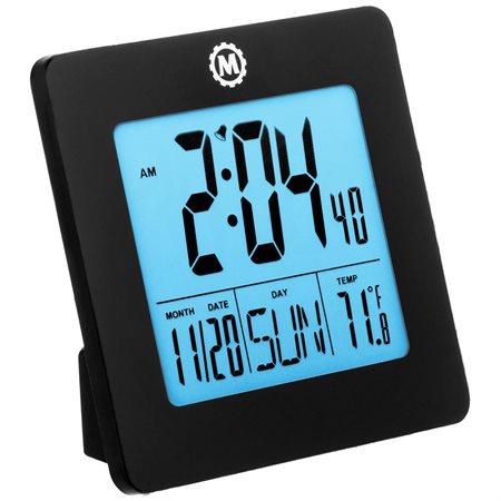 Horloge numérique de voyage ou de bureau noir