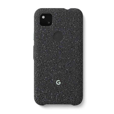 Coque en tissu noir pour Google Pixel 4a