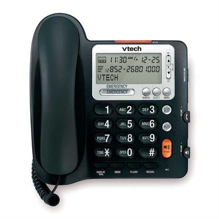 Téléphone à fil grosse touches Vtech noir