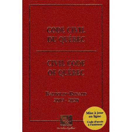 Code civil du Québec 2019-2020