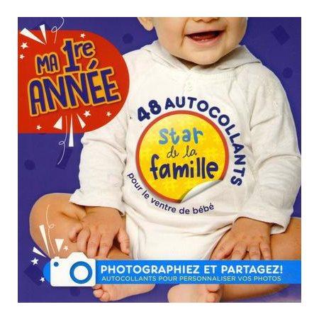 Ma 1re année: 48 autocollants pour le ventre de bébé