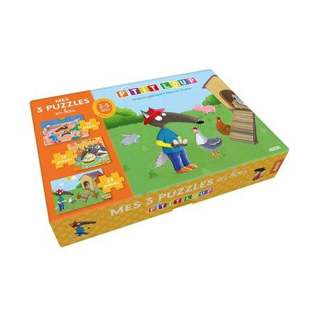 P'tit Loup: mes 3 puzzles en bois