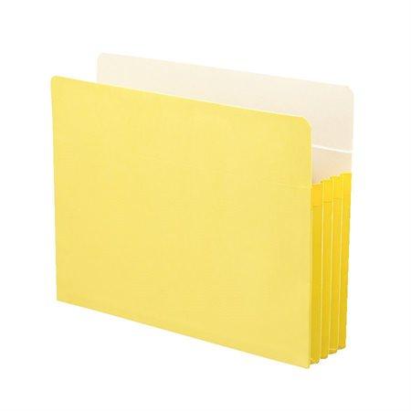 Pochette de classement de couleur Lettre jaune