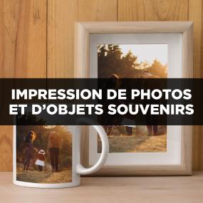 Impression de photos et d'objets souvenirs